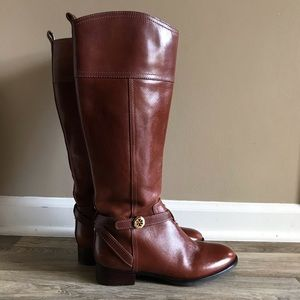 Tory Burch Sienna Riding Tall Chestnut Boots 7.5
